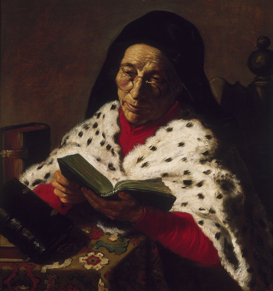 Jan Livens. Elderly woman reading