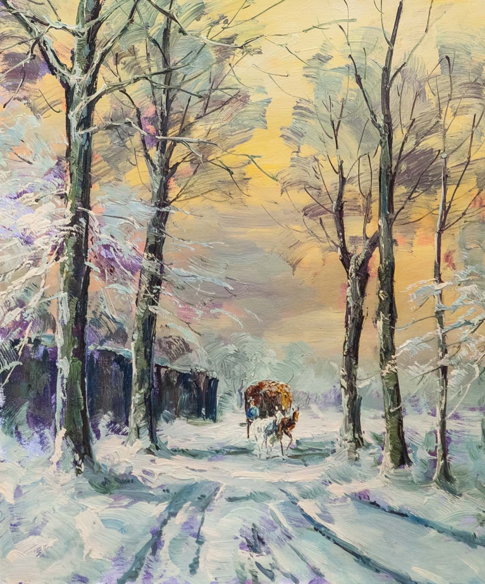 Andrzej Vlodarczyk. On the winter road, on the snowy road N2