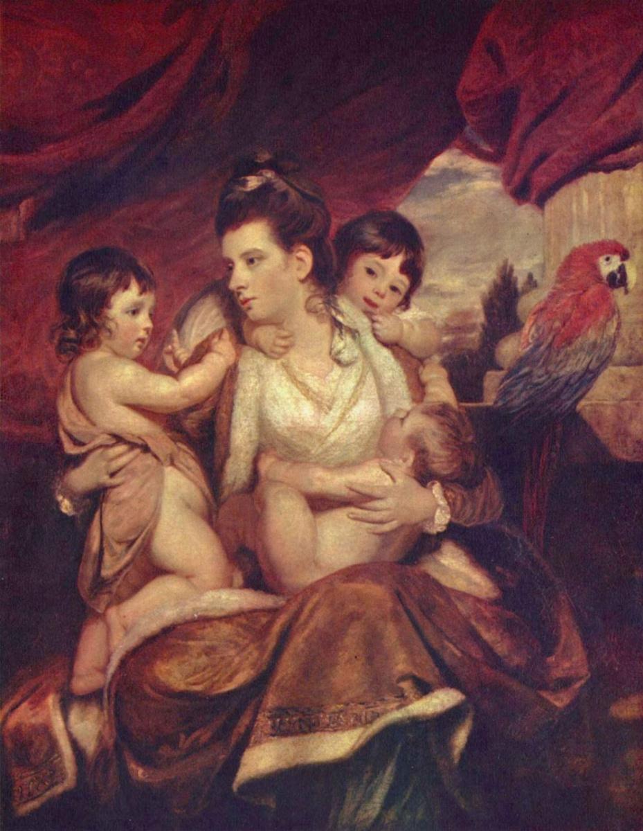 Джошуа Рейнолдс. Портрет леди Кокберн с тремя старшими сыновьями