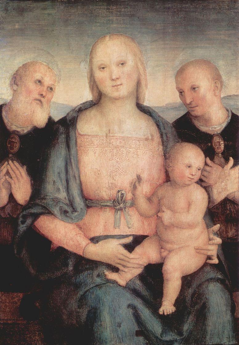Пьетро Перуджино. Мадонна со св. Геркуланом и св. Констанцием Перуджинским