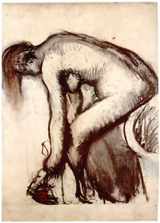 Эдгар Дега. После ванны: обнаженная, вытирающая ноги