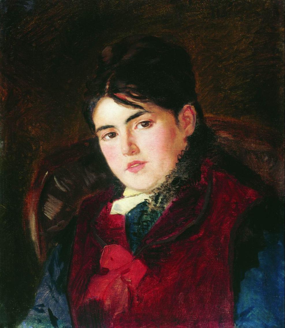 Konstantin Makovsky. Female portrait
