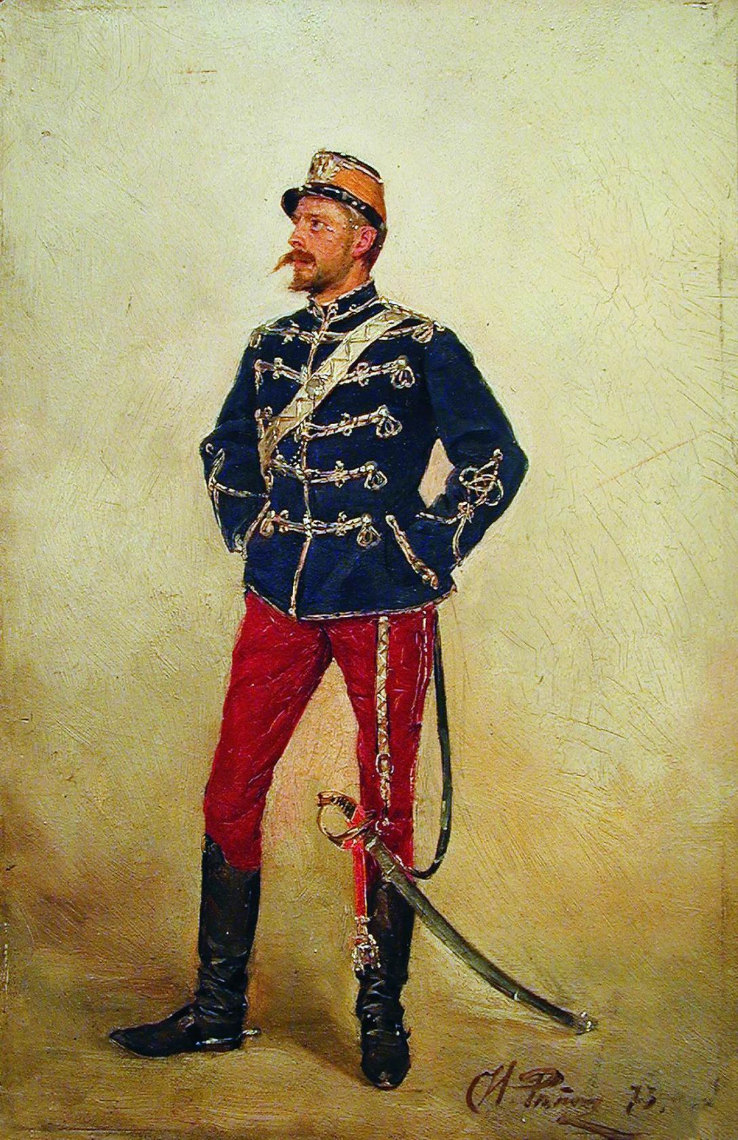 Ilya Efimovich Repin. Young officer. Private collection.