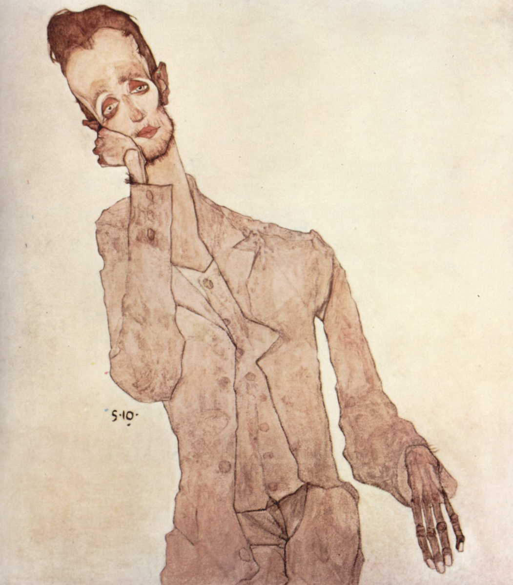 Egon Schiele. Portrait Of Charles Zakowska