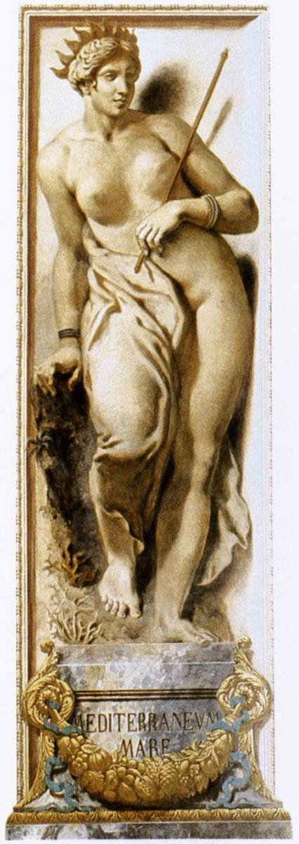 Эжен Делакруа. Средиземноморье (фрагмент росписи западной стены дворца Бурбон)