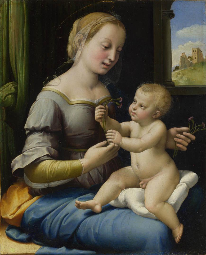 Raphael Santi. The Madonna of the carnation