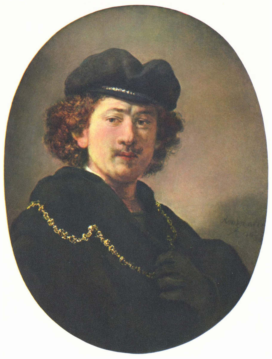 Рембрандт Ван Рейн. Автопортрет с рукой на груди