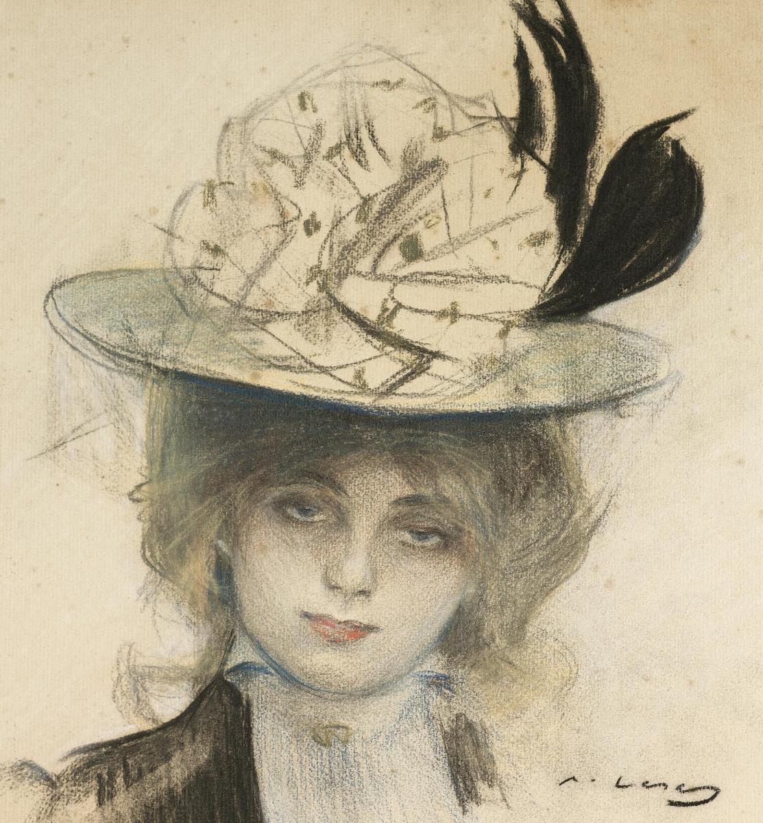 Ramon Casas i Carbó. Portrait of a young woman