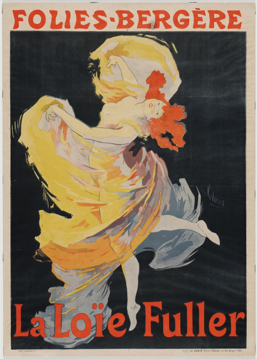 Jules Chere. Loie Fuller at the Folies-Bergère