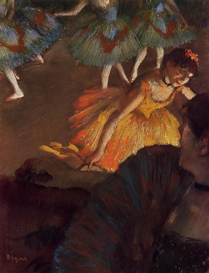 Эдгар Дега. Балет. Вид из ложи оперного театра