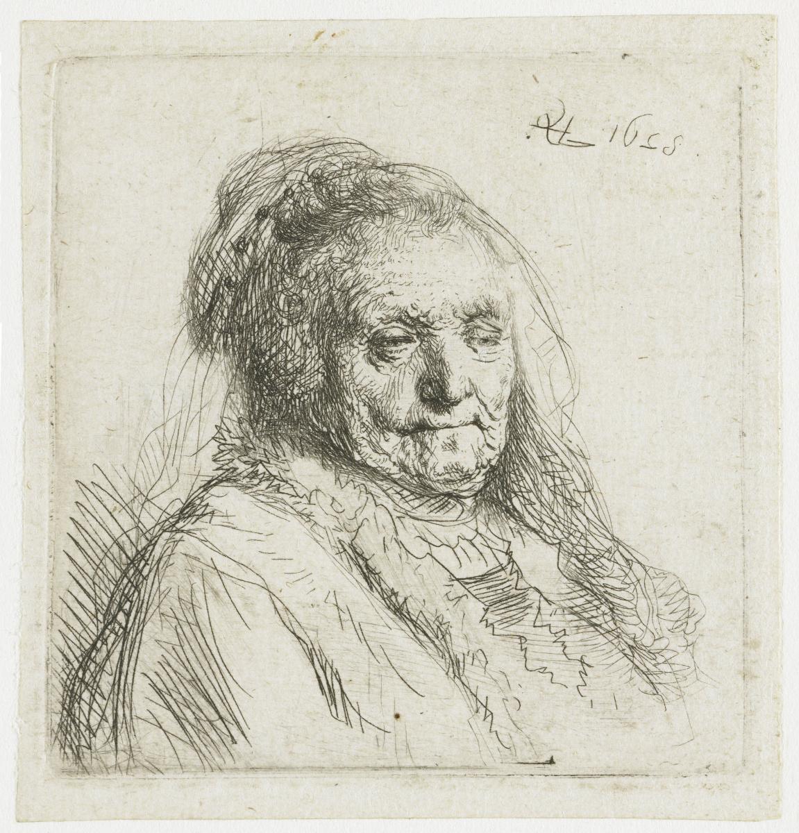 Рембрандт Харменс ван Рейн. Портрет матери