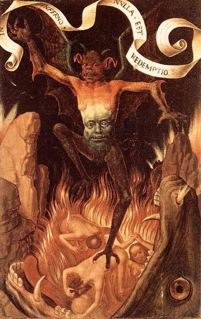 Ганс Мемлинг. Триптих земного тщеславия и божественного спасения. Фронтальная сторона. Правая панель
