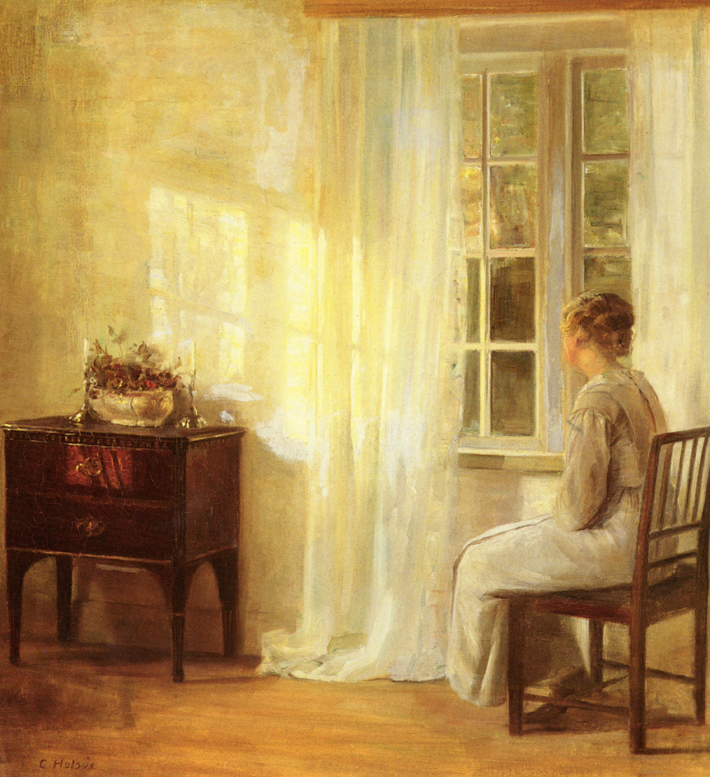 Carl Wilhelm Halse. Waiting at the window