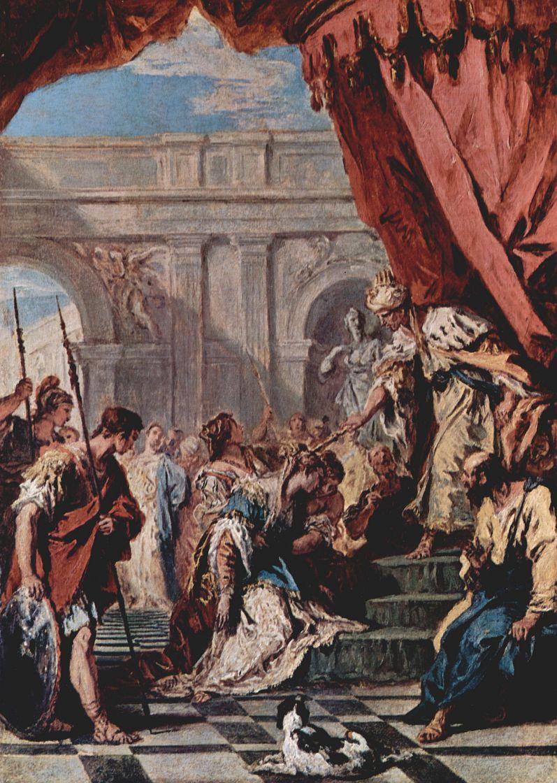 Себастьяно Риччи. Есфирь перед персидским царем Артаксерксом