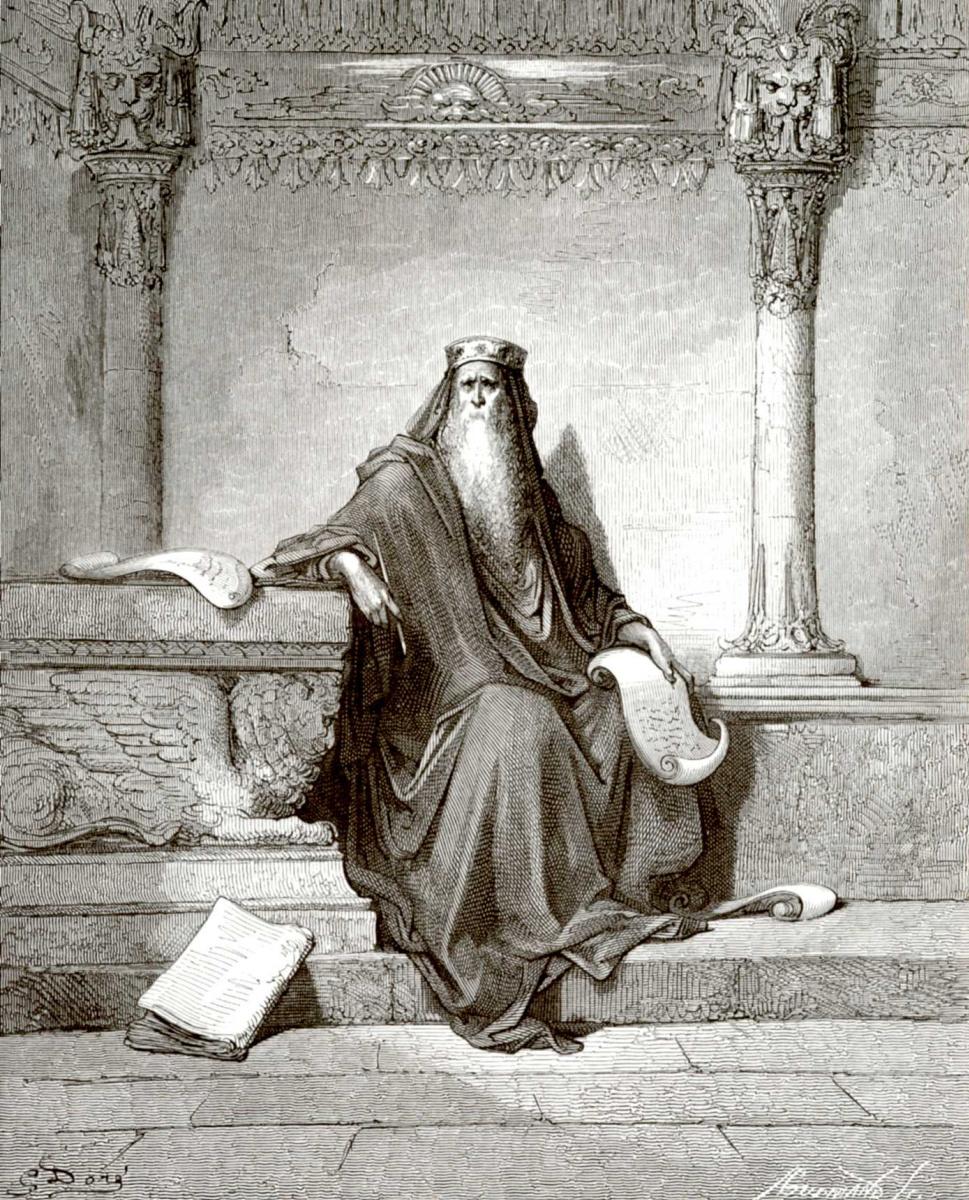 Поль Гюстав Доре. Иллюстрация к Библии: премудрый Соломон
