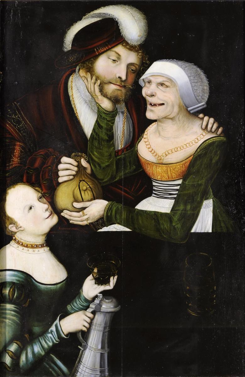 Image result for Лукас Кранах Старший «Сводня» 1548. Коллекция произведений искусств, Кобург.