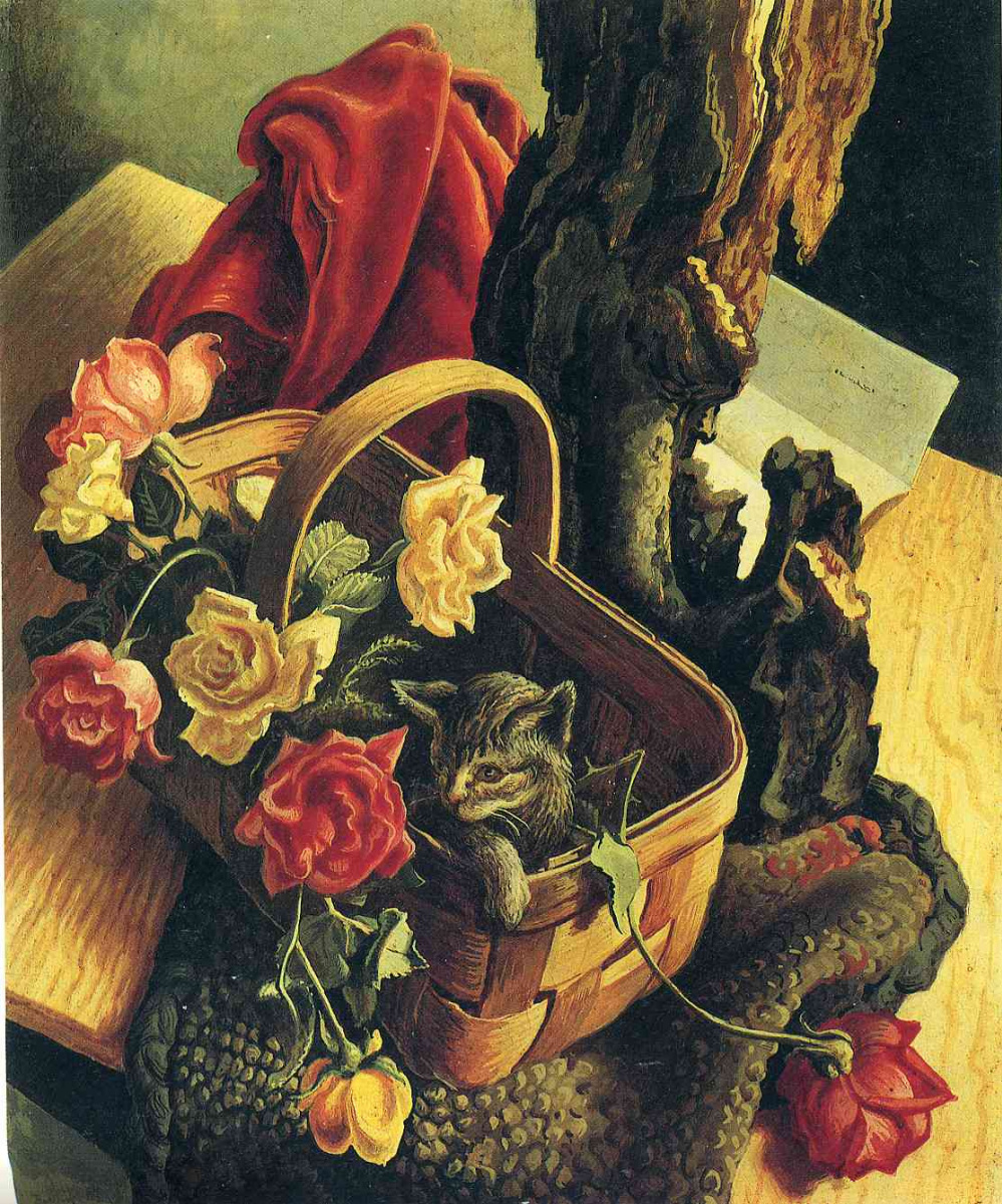 Томас Харт Бентон. Корзина с цветами