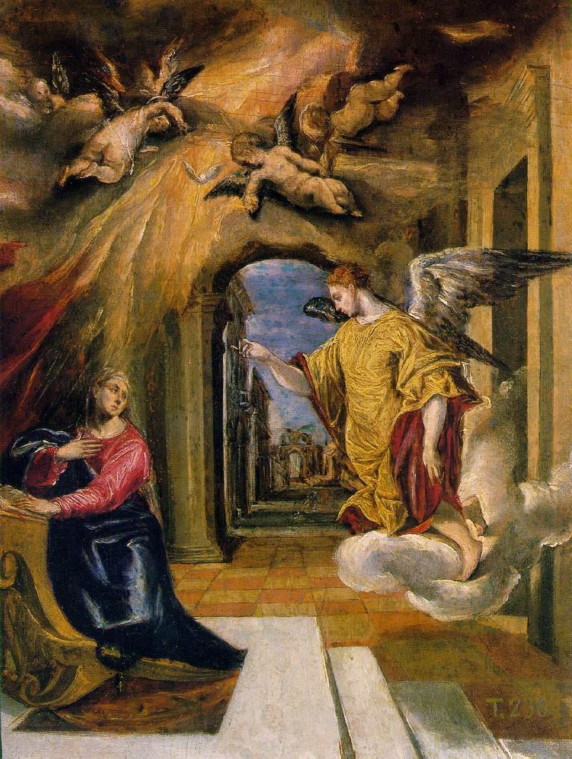 Эль Греко (Доменико Теотокопули). Благовещение