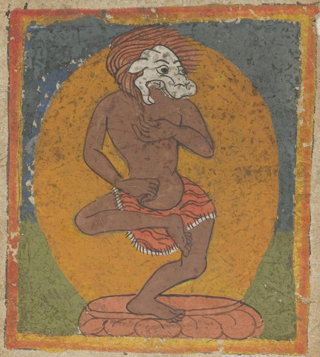 Unknown artist. The deity of the Tibetan Bon religion. Card 9