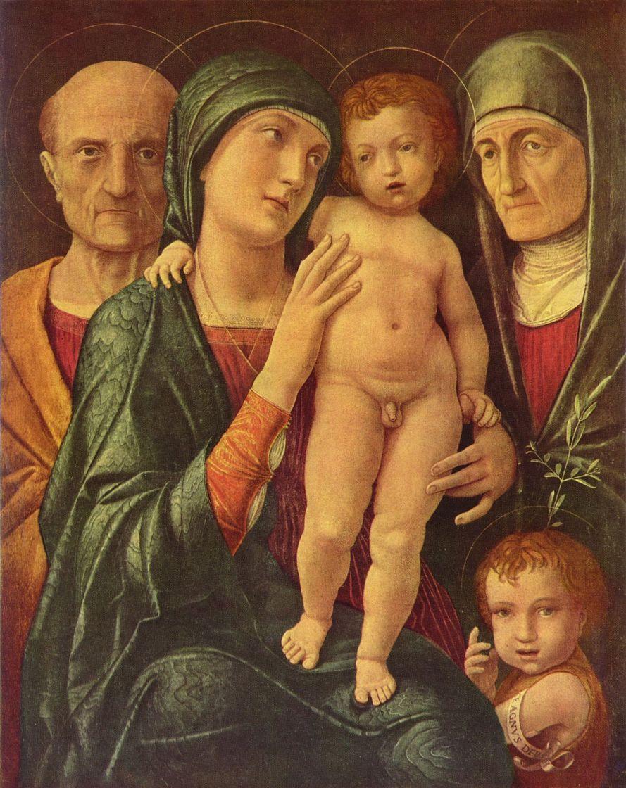 Андреа Мантенья. Святое семейство со Святой Елизаветой и младенцем Иоанном