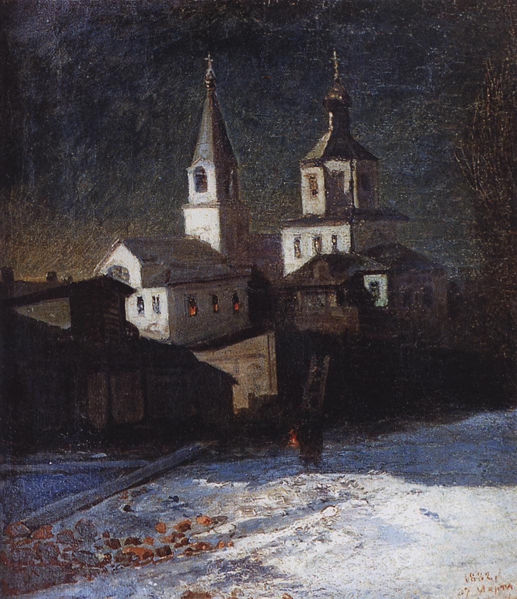 Alexey The Kondratyevich Savrasov. The Church of Elijah the Ordinary in Moscow