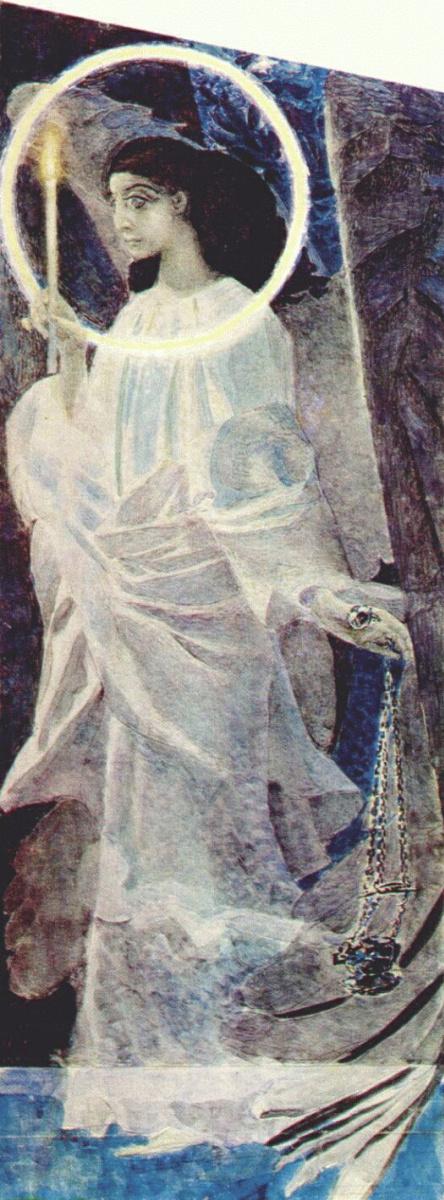 Михаил Александрович Врубель. Ангел с кадилом и свечой. Эскиз для неосуществленной росписи Владимирского собора в Киеве