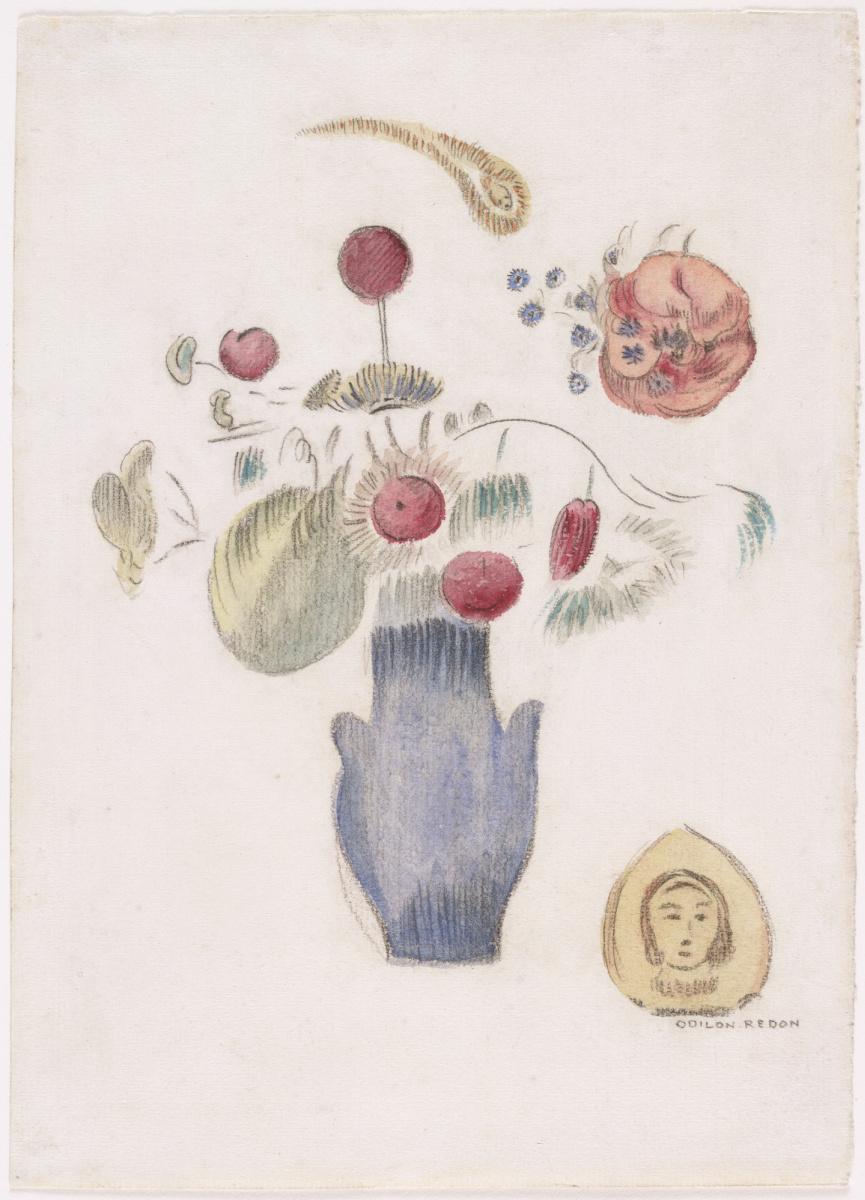 Одилон Редон. Голубая ваза