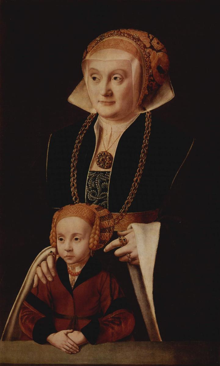 Бартоломей Бруйн Старший. Портрет дамы с дочерью