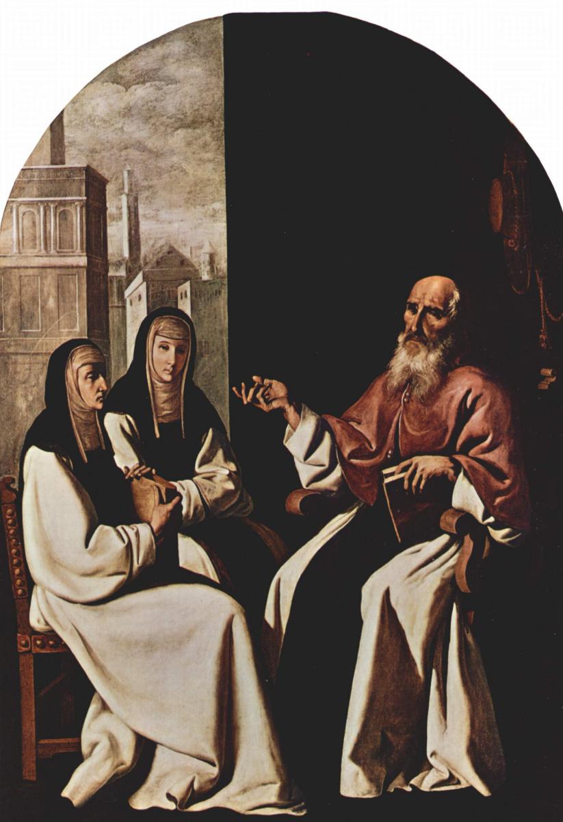 Франсиско де Сурбаран. Св. Иероним, св. Паула Римская с дочерью и св. Евстохий