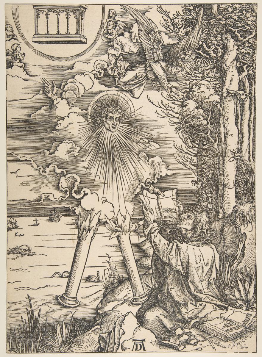 Альбрехт Дюрер. Святой Иоанн проглатывает книгу