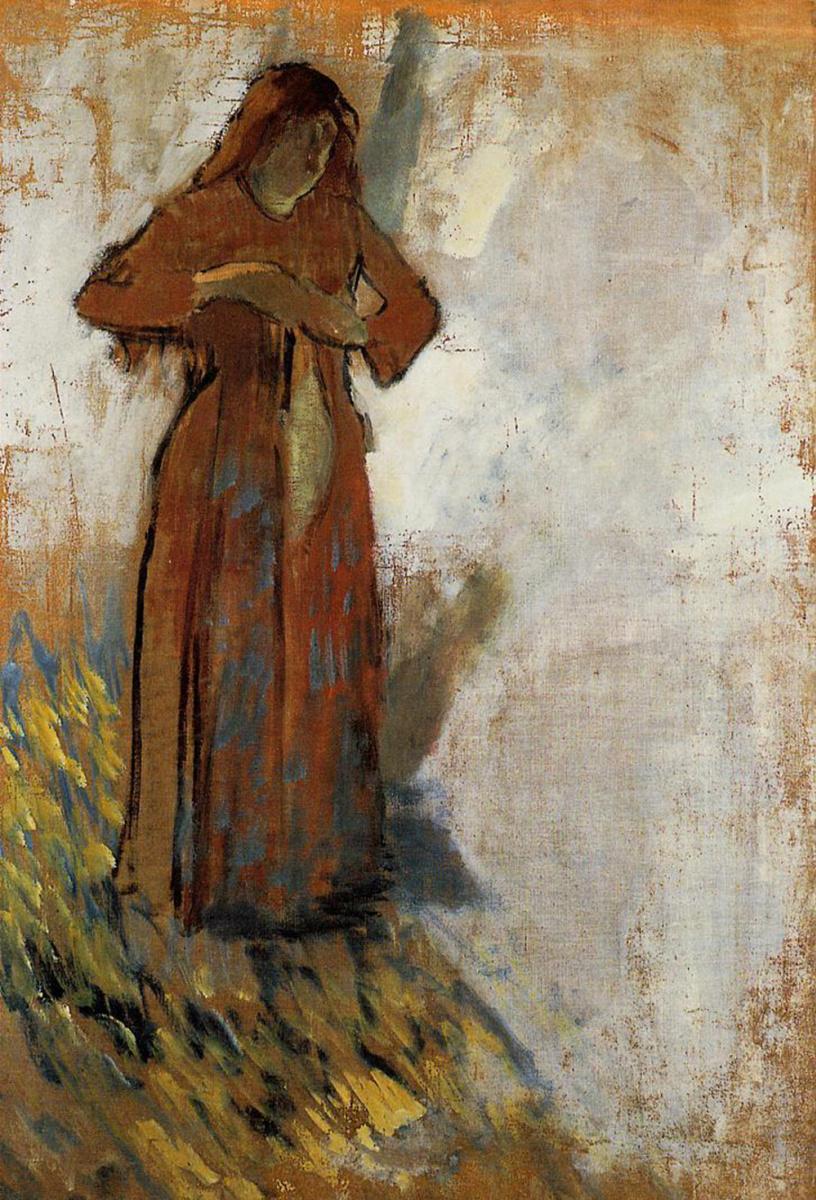 Эдгар Дега. Женщина с распущенными рыжими волосами