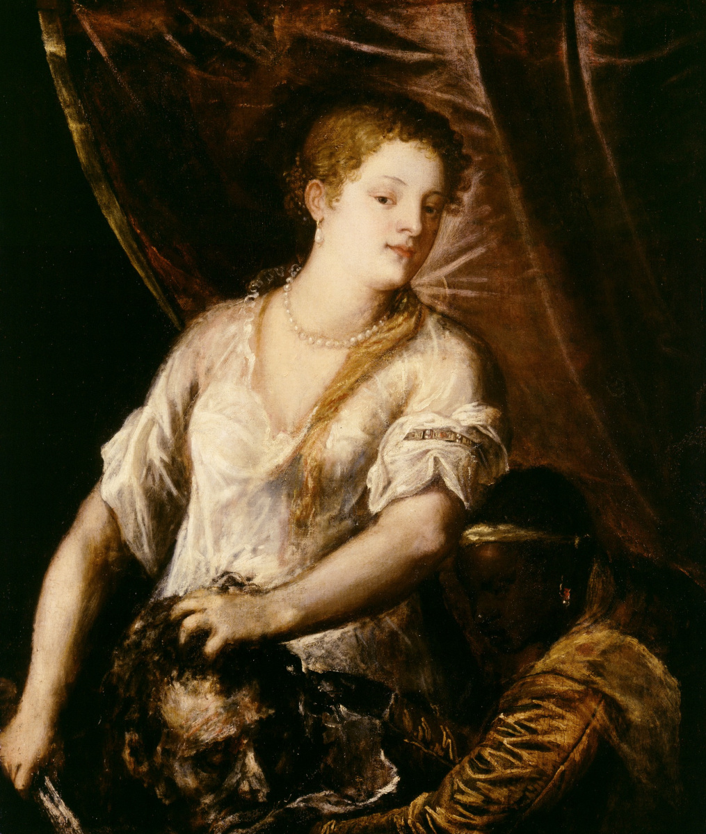 Titian Vecelli. Judith with the head of Holofernes