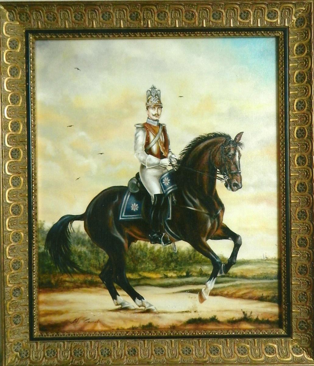 Маргарита Анатольевна Чакова. Aubert - Officer of the Life Guard Guard of the Cuirassier Regiment of 1846-1853.