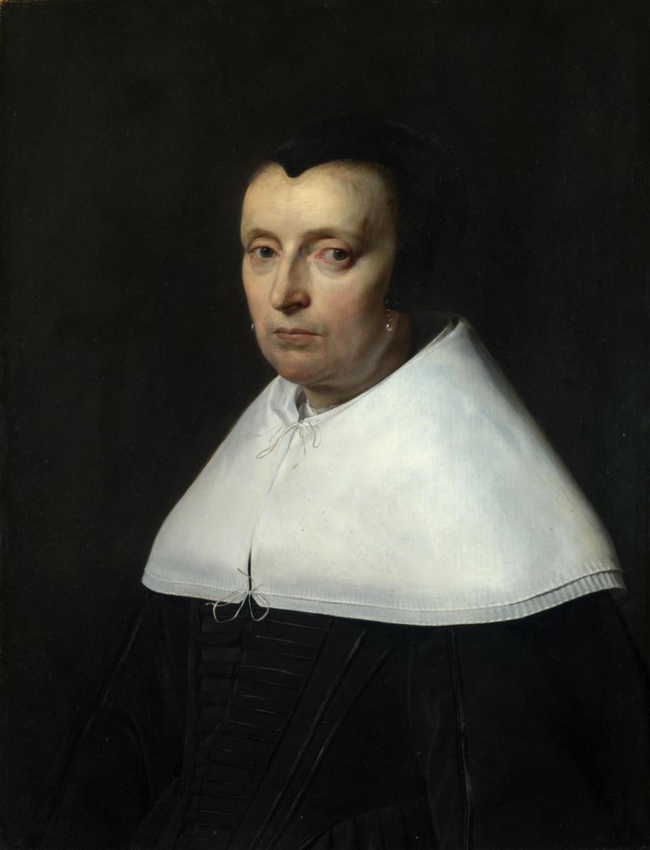 Жан де Брай. Портрет женщины в черной шапочке