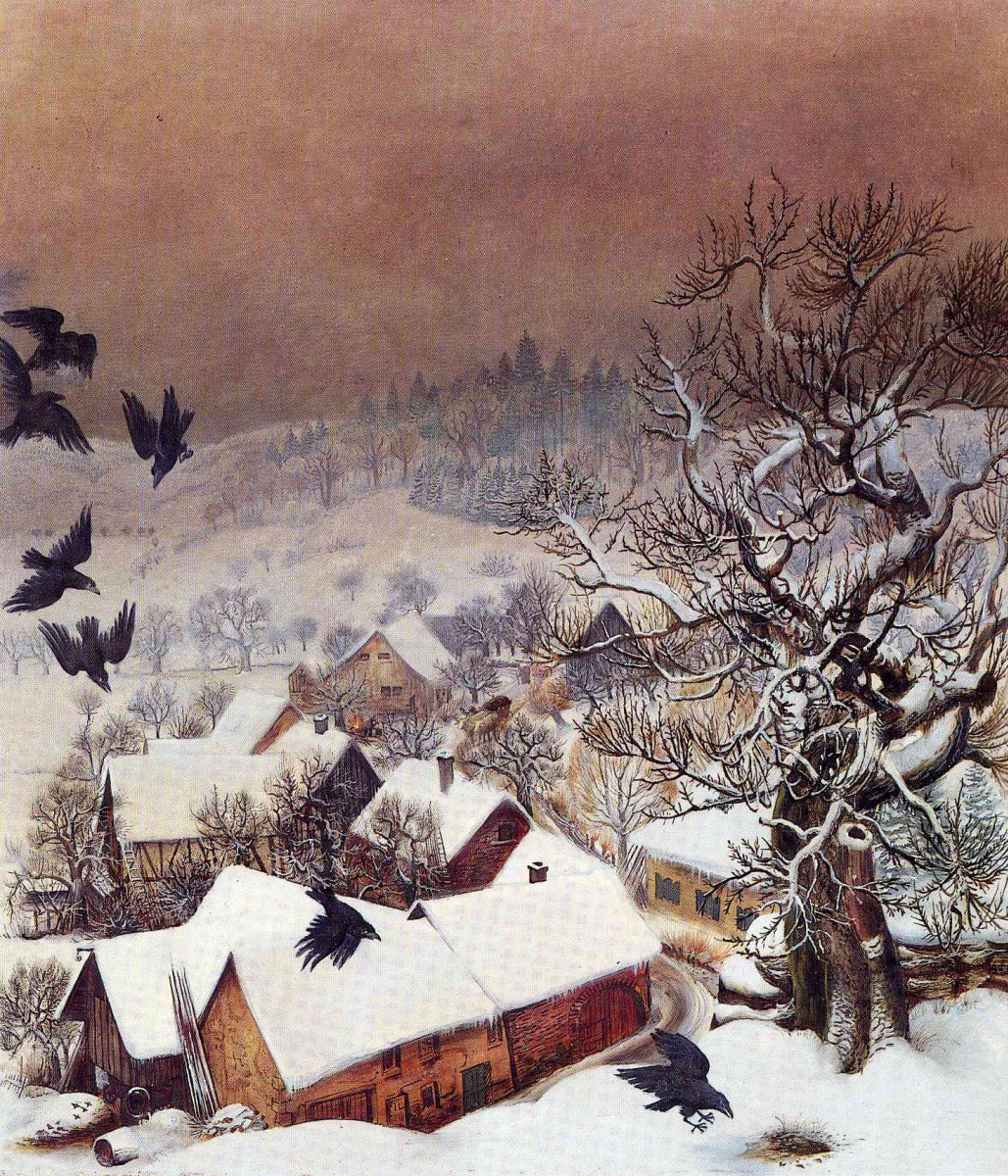 Отто Дикс. Рандегг в снегу с воронами