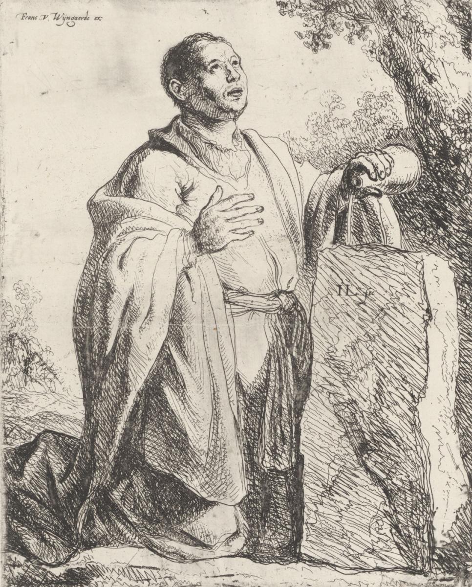 Ян Ливенс. Иаков помазывает камень, у которого он спал