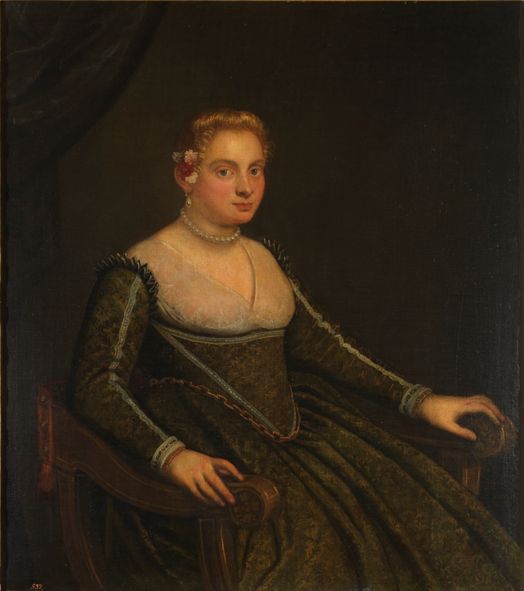 Jacopo (Robusti) Tintoretto. Portrait of a young woman