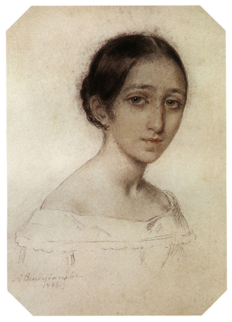 Алексей Гаврилович Венецианов. Портрет девушки