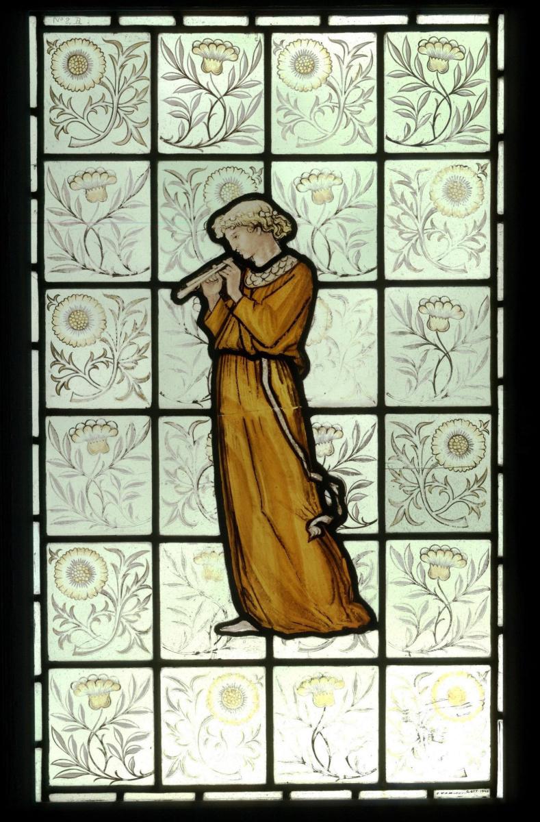 Уильям Моррис. Девушка, играющая на флейте