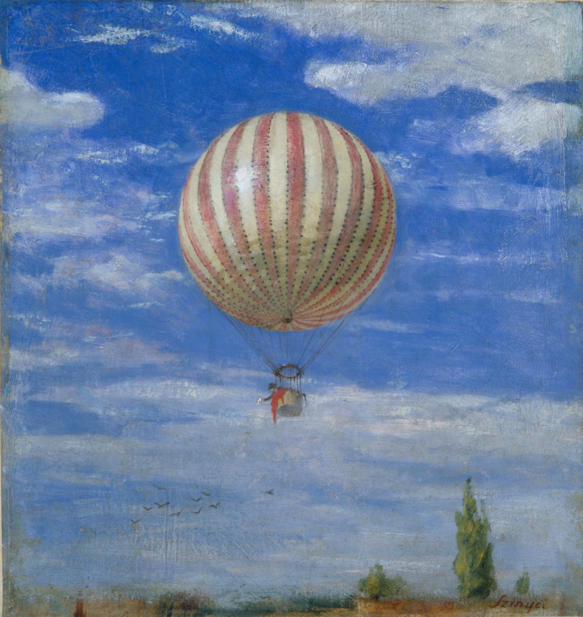 Pál Szinyei Merse. Balloon