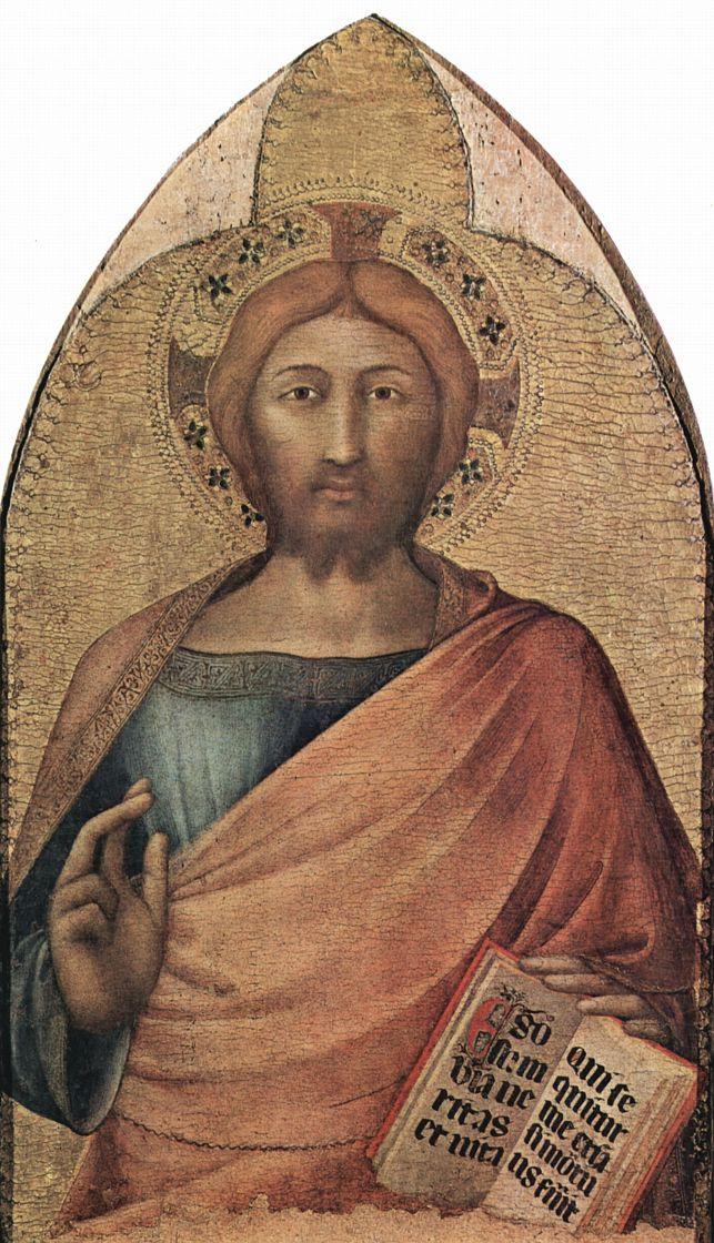 Симоне Мартини. Благославляющий Христос