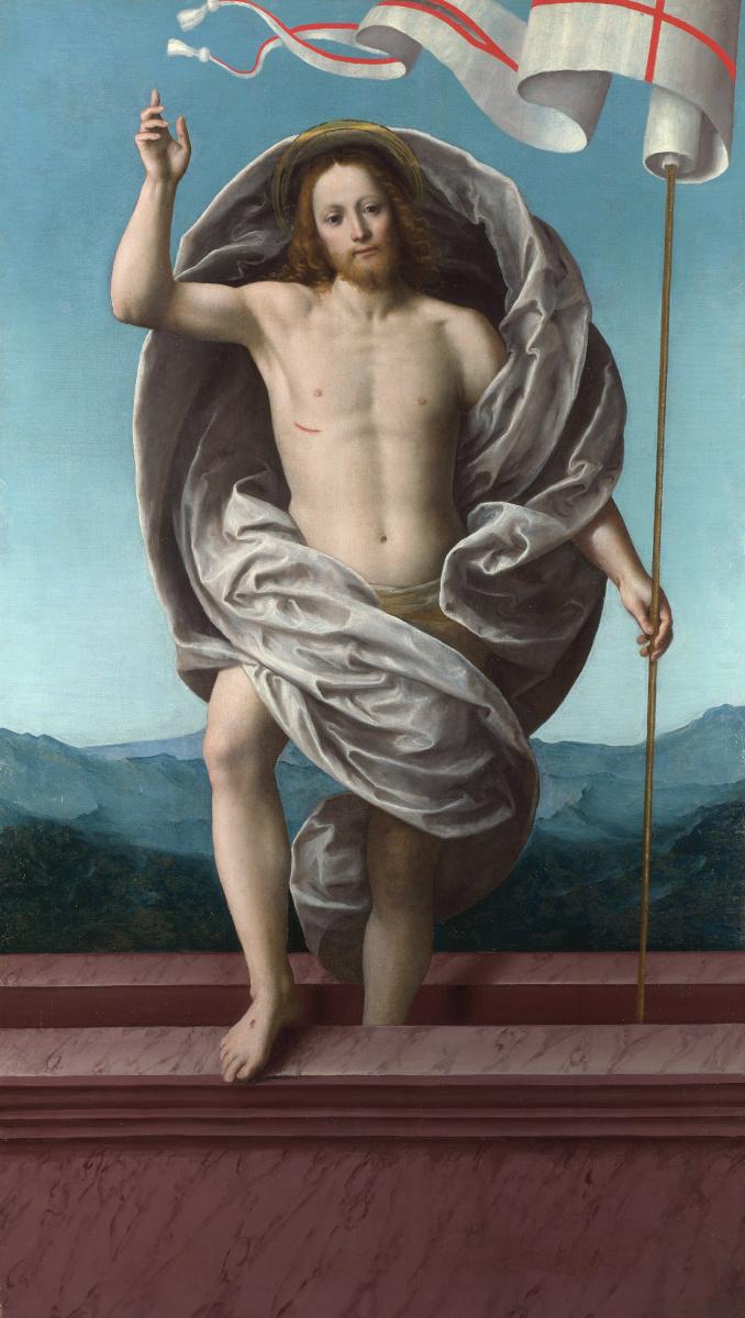 Гауденцио Феррари. Христос, поднимающийся из гробницы