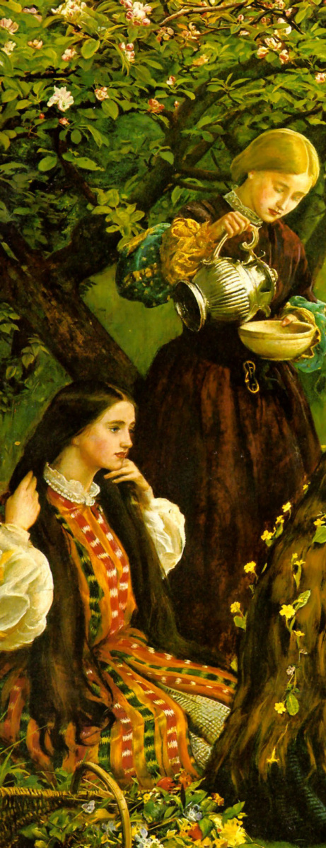 Джон Эверетт Милле. Цветущие яблони (Весна). Фрагмент II