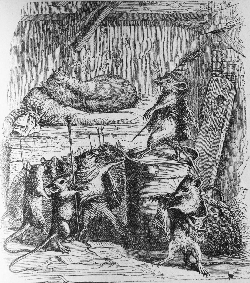 Jean Inias Isidore (Gerard) Granville. Cat and Rats. Illustrations to the fables of Florian