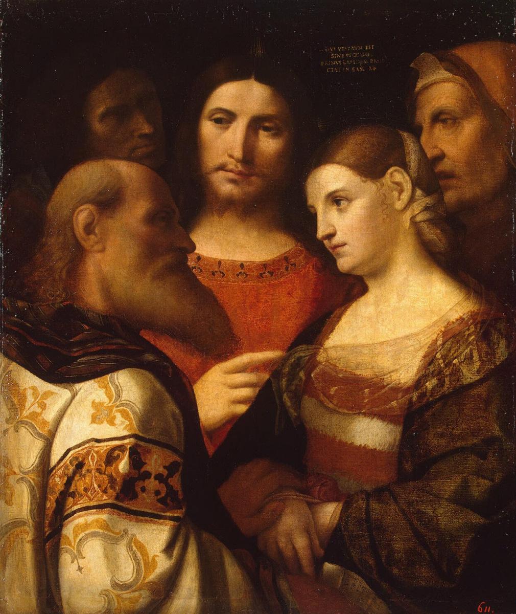 Джакомо Пальма Старший. Христос и грешница