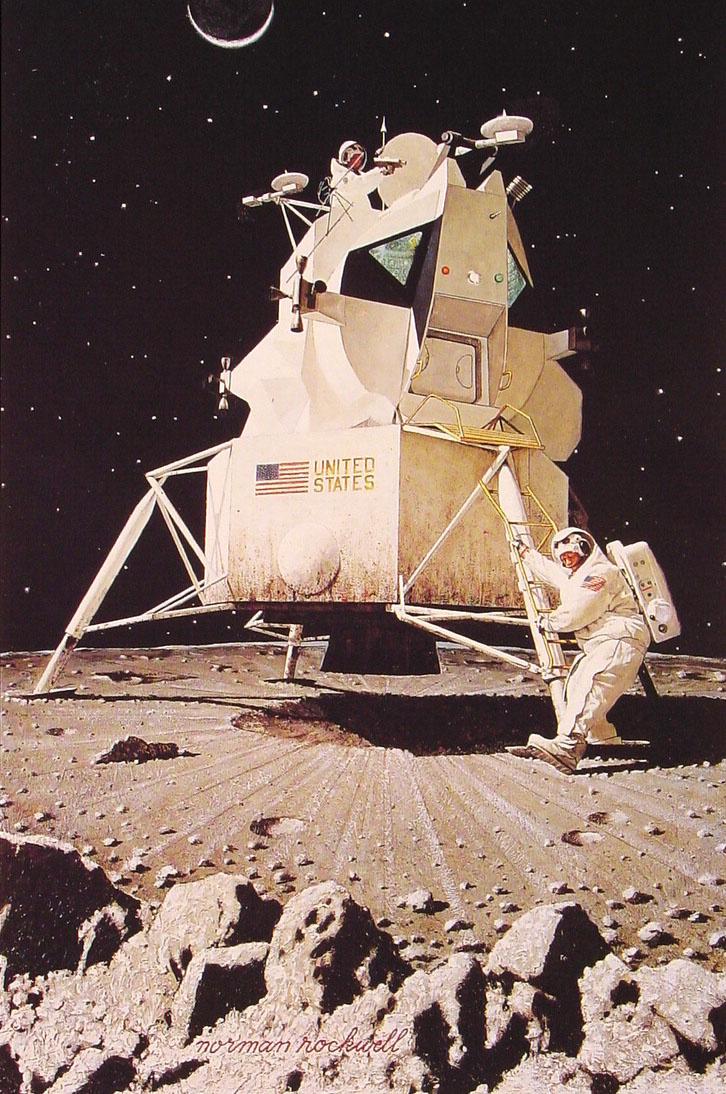 Норман Роквелл. Человек на Луне