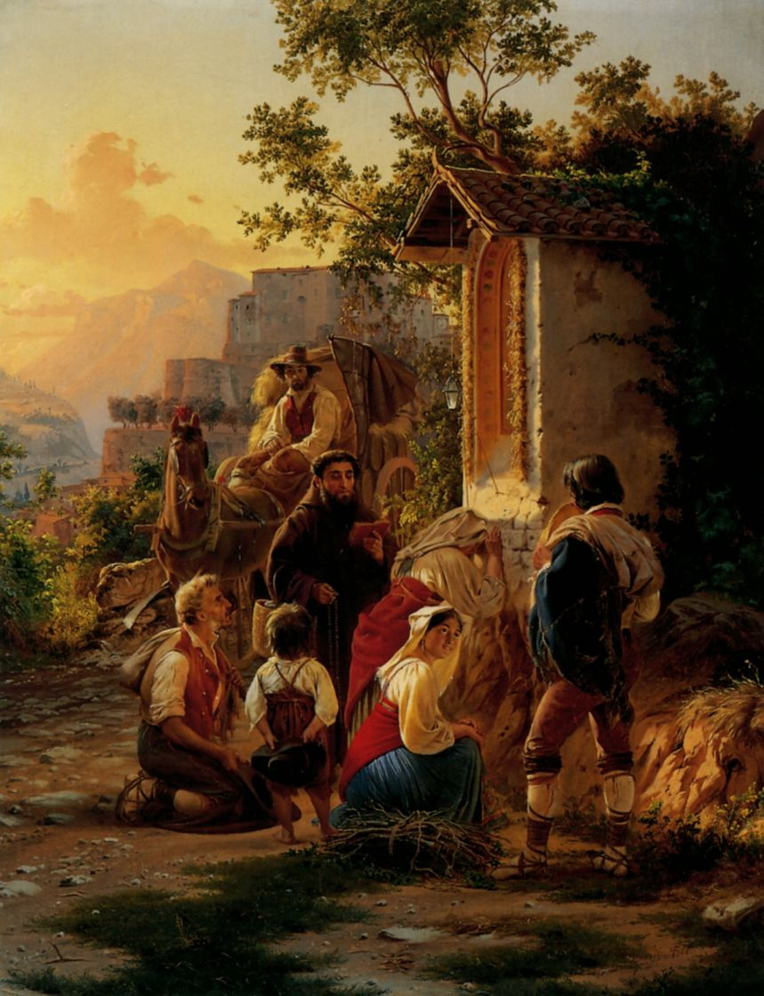 Федор Андреевич Бронников. У часовни