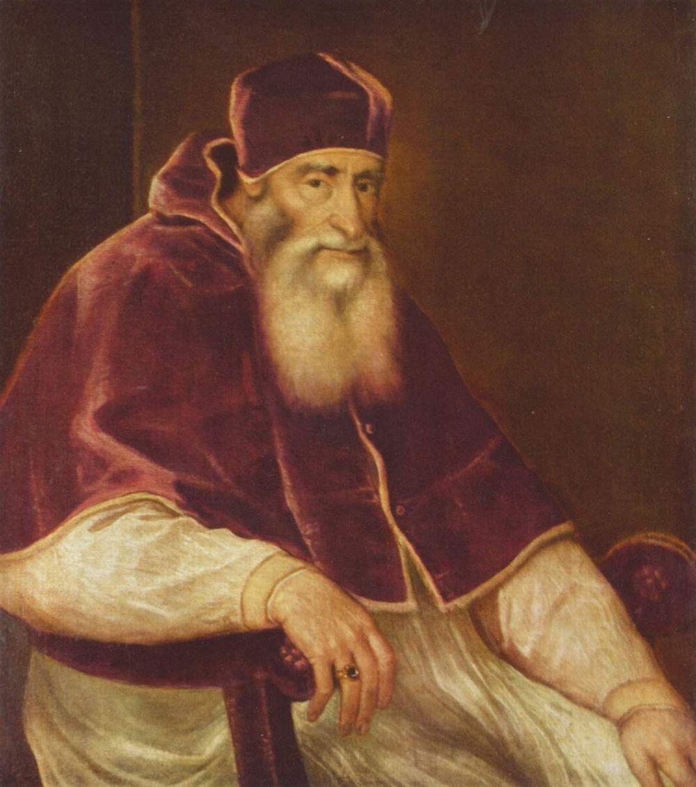 Тициан Вечеллио. Портрет папы Павла III Фарнезе