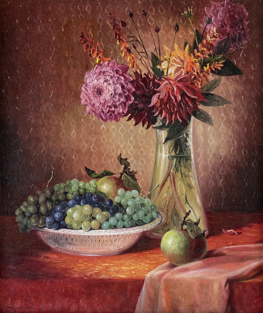Vasily Ivanovich Gribennikov. Натюрморт с цветами