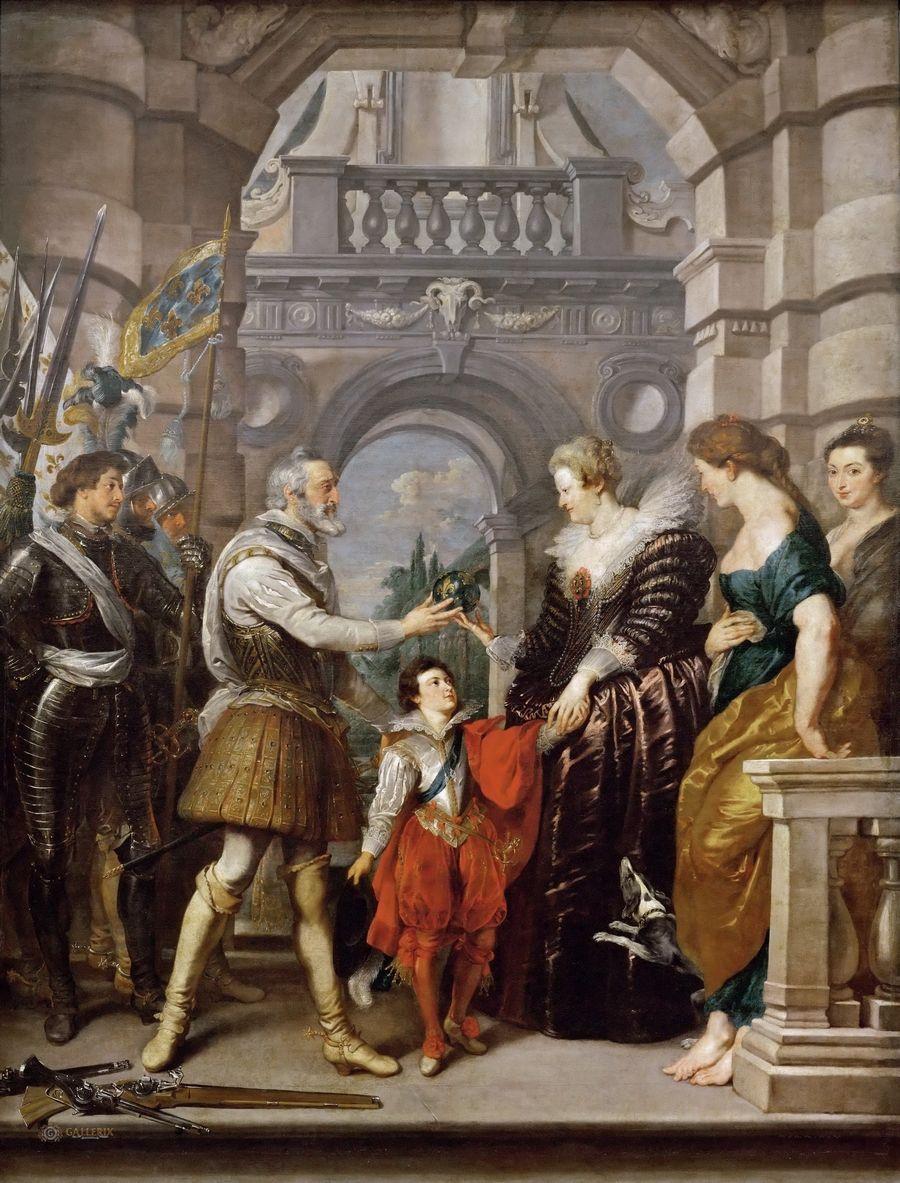 Питер Пауль Рубенс. Учреждение регентства Марии Медичи